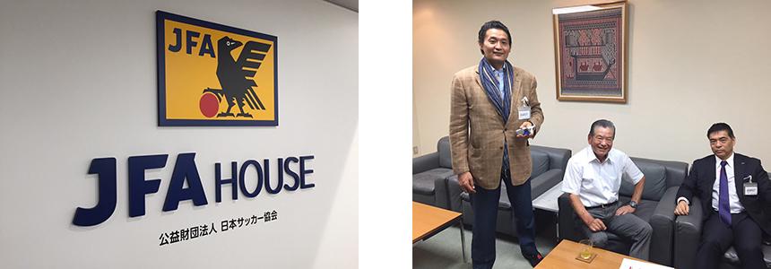 日本サッカー協会 JFA HOUSEとKENCOS座談会メンバー写真