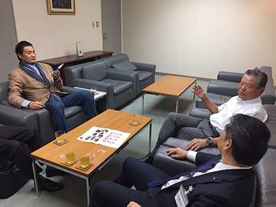 KENCOS座談会の様子 貴乃花親方と川淵三郎氏と竹原タカシ