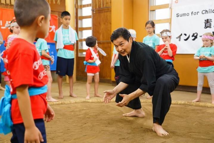 「貴乃花親方のインターナショナル相撲教室」の様子1