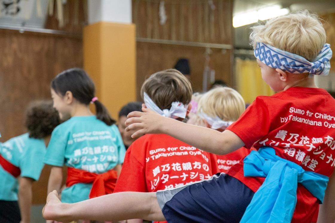 「貴乃花親方のインターナショナル相撲教室」の様子2
